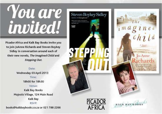 Jo-Anne Richards & Boykey Sidley - Kalk Bay Books 03 April 2013