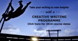 Early bird special for creative writing course endssoon
