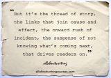Monday Motivation: Just a slender thread ofstory